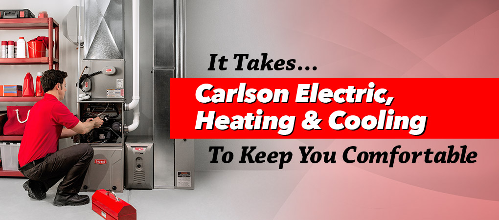 Heating and cooling service from carlson electric technician